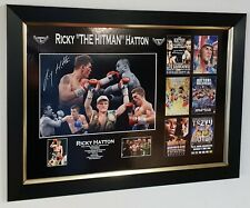 RICKY HATTON SIGNED Photo Autographed Picture Display with AFTAL DEALER COA