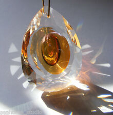 "Pretty SUNCATCHER!  CRYSTAL faceted glass 50mm  ""Dragon Eye""  PRISM Feng Shui"