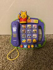 vtech walt disney winnie the pooh bear teach n lights phone game