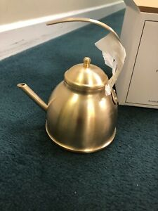 Tea Rose & Fitzgerald Brushed Gold Tea Kettle ~ Causebox ~ Stainless Steel New