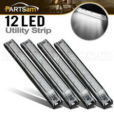 "4x 6"" White Led Utility Strip Surface Mount 12 Diodes Interior&Exterior Marker"