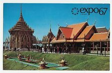 Expo 67 Montreal Canada Pavilion of Thailand Vintage Postcard