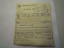 BIGLIETTO DEL TRENO PERSONALE DI VENTIMIGLIA = MILANO - ALASSIO 1963 32-191
