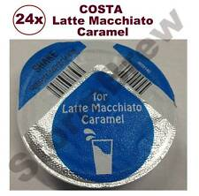 24x TASSIMO COSTA CARAMEL LATTE 325ml MILK CREAMER T-DISCS PODS LARGE CUP SIZE