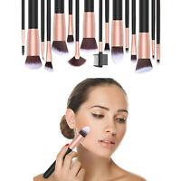 17PCS Kabuki Make Up Brushes Set Makeup Foundation Blusher Face Powder Brush NEW