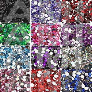 3mm 4mm 5mm Acrylic Flat Back Crystals Rhinestone Beads Gems Nail Art Christmas