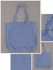 "nEW Port and Company Blue Denim Tote Bag 12-1/2"" x 14-1/2"" x 4"""
