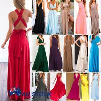 Women Evening Dress Convertible Multi Way Wrap Bridesmaids Formal Long Maxi Gown