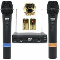 VHF Dual Wireless Microphone Handheld Professional HIFI EMB - 55APK5