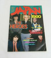 Ongaku Senka Magazine David Sylvian Japan Photo Book 1980 THE HEROS Mick Karn