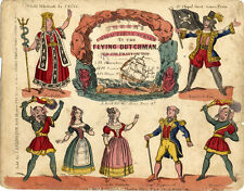 Toy Theatre Play - JK Green's Flying Dutchman - Printed in Tuppence Coloured