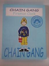 'Chain Gang' Fireman wall Clock