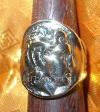 SOLAR SUN GREEK ROMAN GOD APOLLO REPLICA ANTIQUE ALEXANDER THE GREAT COIN RING