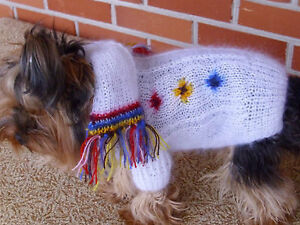 Yorkshire Terrier Hand Made Dog Sweater Clothing