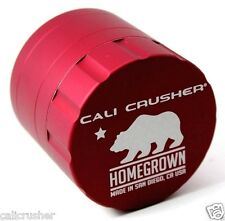 Cali Crusher Homegrown Herb, Spice & Tobacco Grinder 4 Piece Aluminum New Red