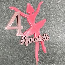 Personalised Ballerina 3D Printed Cake Topper - Ballet Lover- Party Decorations