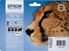 Genuine Epson T0715 Multipack Ink Cartridges Dated 2016
