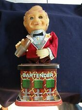 Bartender Toy With Crazy Eyes With Original Box