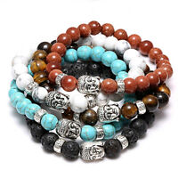 8mm mode pierre naturelle Bouddha tête extensible Yoga énergie Reiki Bracelets
