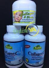 2 Fcos Alfa Vitamins Collagen C Hydrolysate With Vitamin C + Crema de Colageno