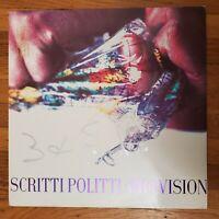 Scritti Politti Provision PROMO 1988 NM Vinyl LP VG+ Record Cover WB 1-25686