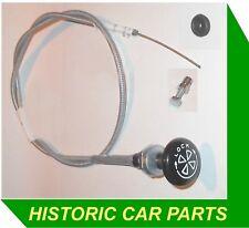 CHOKE CABLE, CLAMP & GROMMET for AUSTIN HEALEY Sprite Mk 3 RHD 1275cc 1966–74