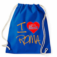 Art T-shirt, Zaino I Love Roma, Blu, Sacca Gym