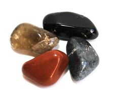 "REIKI énergie Chargé ""Racine/base Chakra"" tumble stone crystal Set Cadeau Enveloppé"