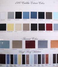 1980 Cadillac Color Paint Chip Brochure, Eldorado Biarritz Brougham Seville 80