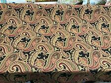 Fabricut Black Rust Paisley Milan Ebony Upholstery Drapery fabric by the yard
