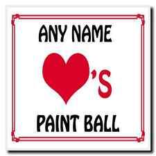 AMORE Cuore PAINT BALL Sottobicchieri Personalizzati