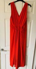 Zara Red Wide Leg Jumpsuit Brand New Size L 12 14 16