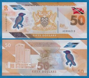 Trinidad and Tobago 50 Dollar P New 2020 (2021) UNC Polymer Low Shipping Combine
