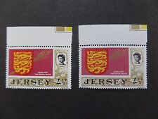 Jersey 1974 S.G.49ab 41/2p Uncoated Paper with normal Major Error u/m