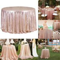 48''x72'' Rose Gold Tablecloth Sequin Table cloth Background Decor Party Wedding