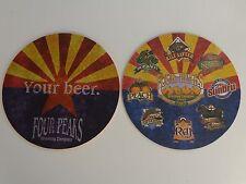 Beer COASTER ~*~ FOUR PEAKS Brewing Company ~ Phoenix & Tempe, ARIZONA Locations