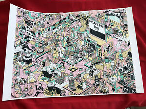 ARCADE FIRE infinite content latin america 2017 art print poster numbered /100