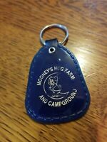 VINTAGE MOONEY'S HOG FARM & CAMPGROUND MOTORCYCLE KEY CHAIN FOB RARE