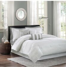 Madison Park Hampton Queen Size Bed Comforter New In Bag - White Beautiful