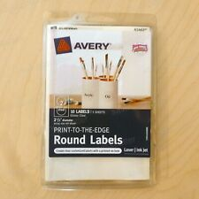 """10 ct. Avery Clear Round Labels 2-1/2"""" Print to Edge Laser/Inkjet"""