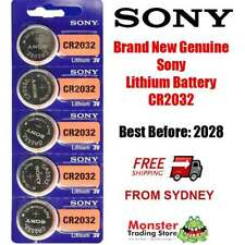 5 x SONY CR2032 3V LITHIUM BUTTON COIN BATTERY BRAND NEW/GENUINE USE BY: 2028
