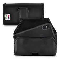 iPhone 11 Pro, XS & X Belt Holster Case Black Leather Executive Clip