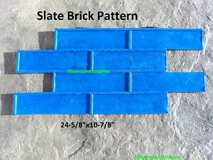 Slate Brick Pattern Decorative Concrete Cement Plaster texture Stamp Mat NEW