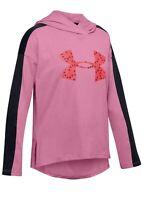 NEW Girls Under Armour Favorite Jersey Hoodie Large Logo Size YXL Pink & Black