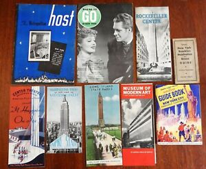 New York City Tourism Pamphlets Guide Books Maps Magazines 1920-60 Lot x 9