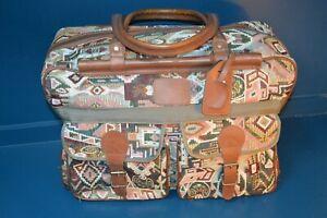 Vintage carpet Aztec Tapestry large hold all travel bag