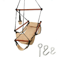 Hanging Rope Chair Rope Hanging Swing Patio Porch Hammock Outdoor Seat Camping