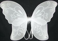 Sparkling White Fantasy Butterfly Fairy Wings Tinkerbell Kids Costume Accessory