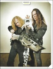 Megadeth 2013 Dave Mustaine Dean Chris Broderick Jackson guitar pin-up photo 2b