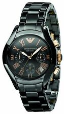 NEW EMPORIO ARMANI AR1411 Women BLACK CERAMIC WATCH